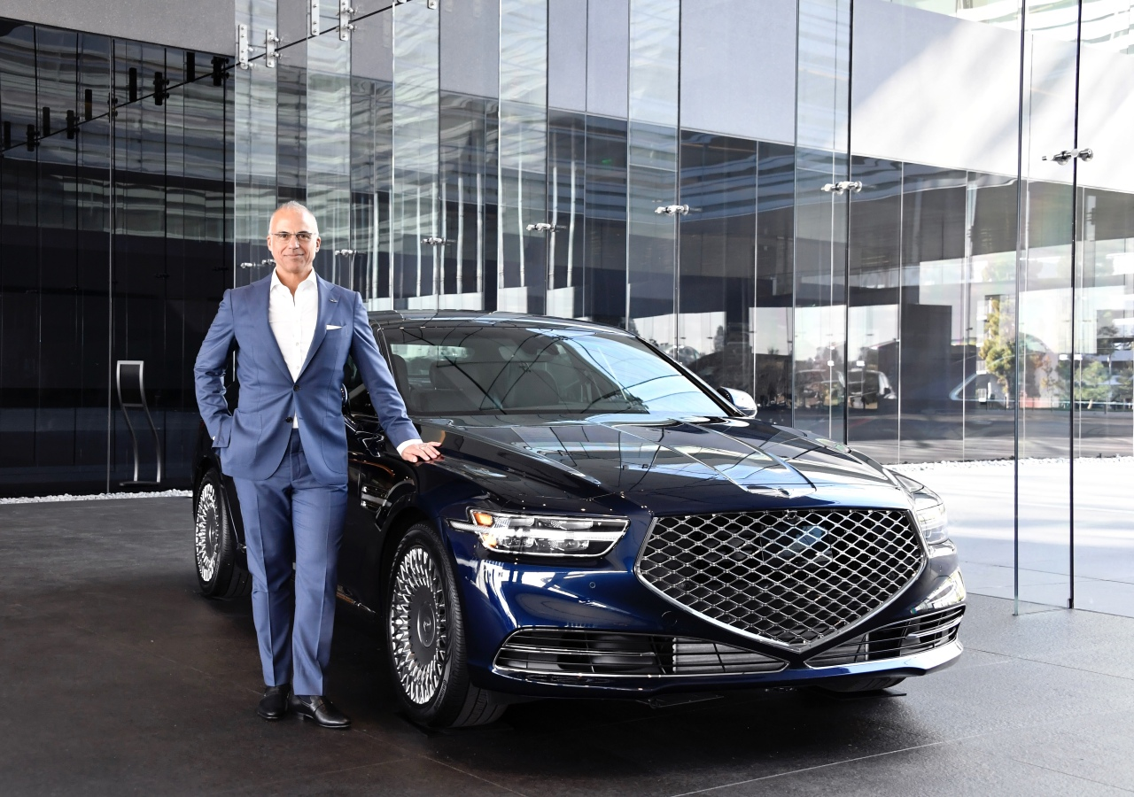 Mark Del Rosso, CEO of Genesis' North American operations poses with a vehicle. Hyundai Motor Group