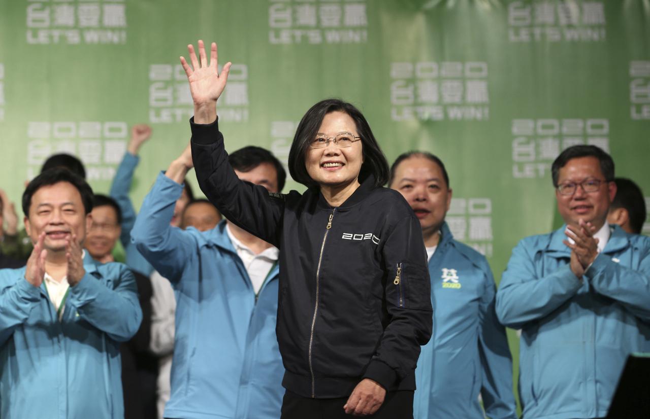 Taiwanese President Tsai Ing-wen (AP-Yonhap)