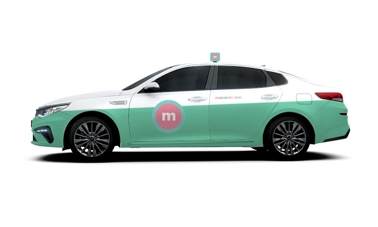 A taxi design of ride-hailing platform Macaron Taxi (KST Mobility)