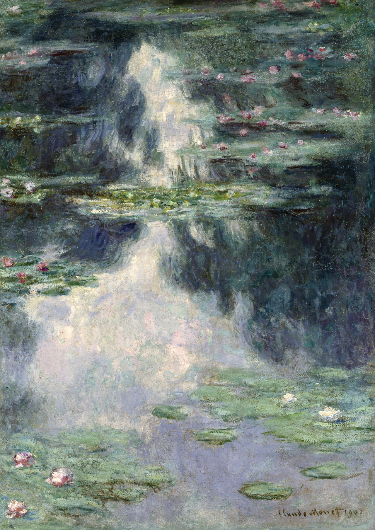 """Pond With Water Lilies"" by Claude Monet in 1907 (Seoul Arts Center)"