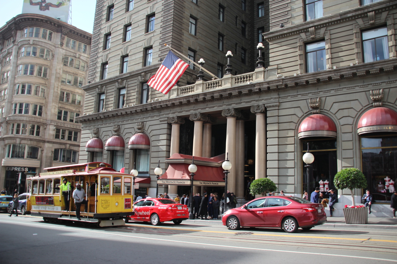Westin St. Francis Hotel on Union Square (Lim Jeong-yeo/The Korea Herald)
