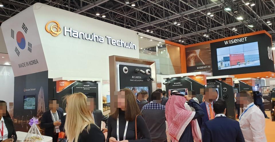 Hanwha Techwin's booth at Intersec 2020 in Dubai (Hanwha Techwin)