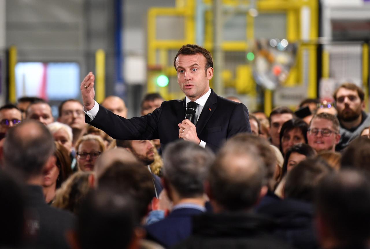 French President Emmanuel Macron (Yonhap)