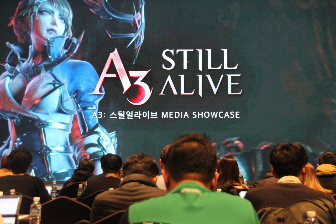 Netmarble plans to launch MMORPG-Battle Royale hybrid mobile game A3: Still Alive in March. (Lim Jeong-yeo/The Korea Herald)