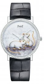 Swiss luxury watchmaker Piaget has rolled out a limited-edition Piaget Altiplano inspired by white rats. (Piaget)