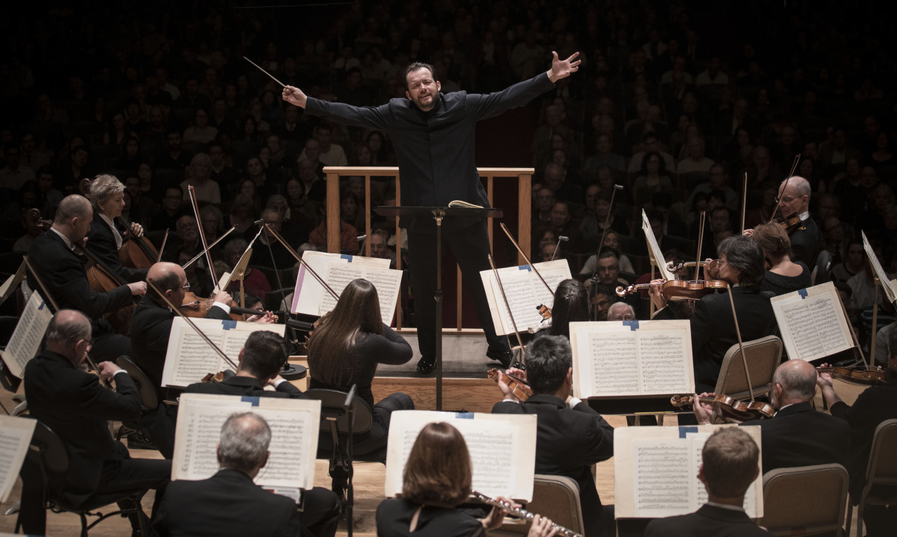 Conductor Andris Nelsons (center) and the Boston Symphony Orchestra (Boston Symphony Orchestra)