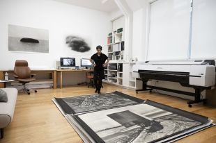 Lee: Lee Jung-jin works on her photographs. (PKM Gallery and the artist)