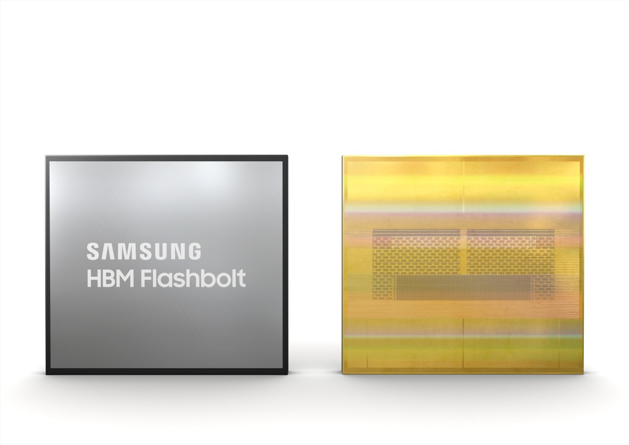 Samsung's new Flashbolt HBM2E chips (Samsung Electronics Co.)