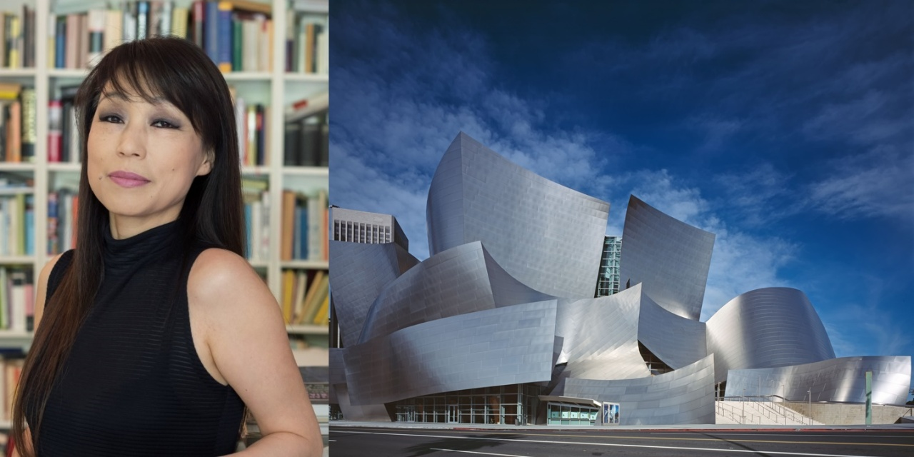 From left: composer Chin Un-suk (Priska Ketterer) and Walt Disney Concert Hall (LA Phil)