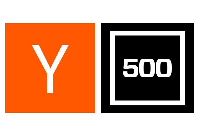 Logos of Y Combinator (left) and 500 Startups