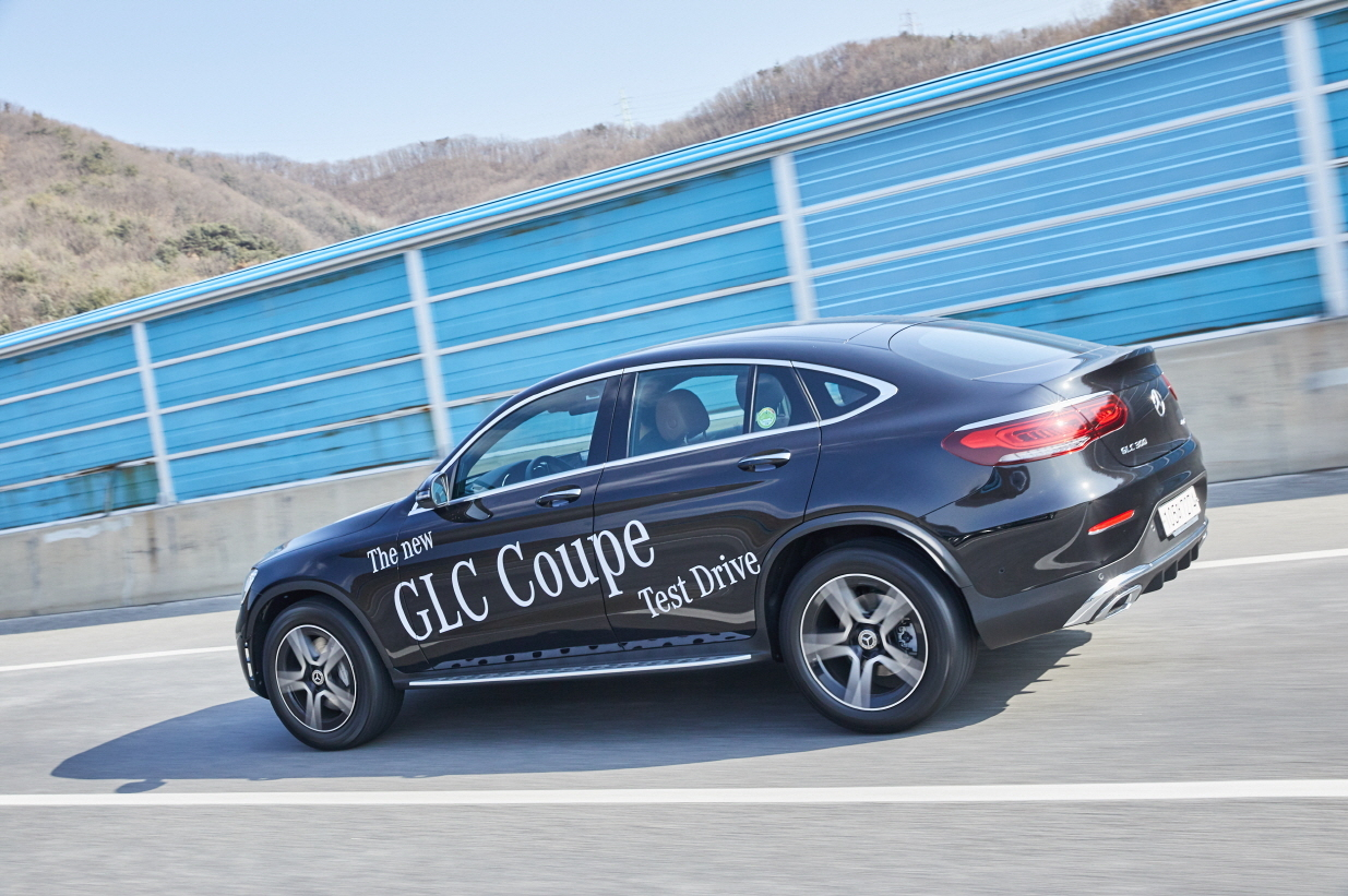 Mercedes-Benz's new GLC 300 4matic Coupe (Mercedes-Benz Korea)