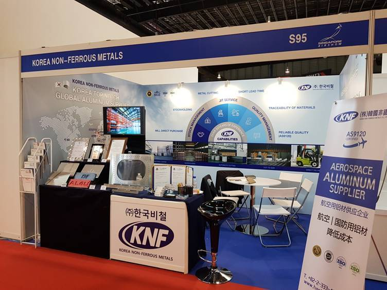 KNF's booth at Singapore Airshow 2020 (KNF)