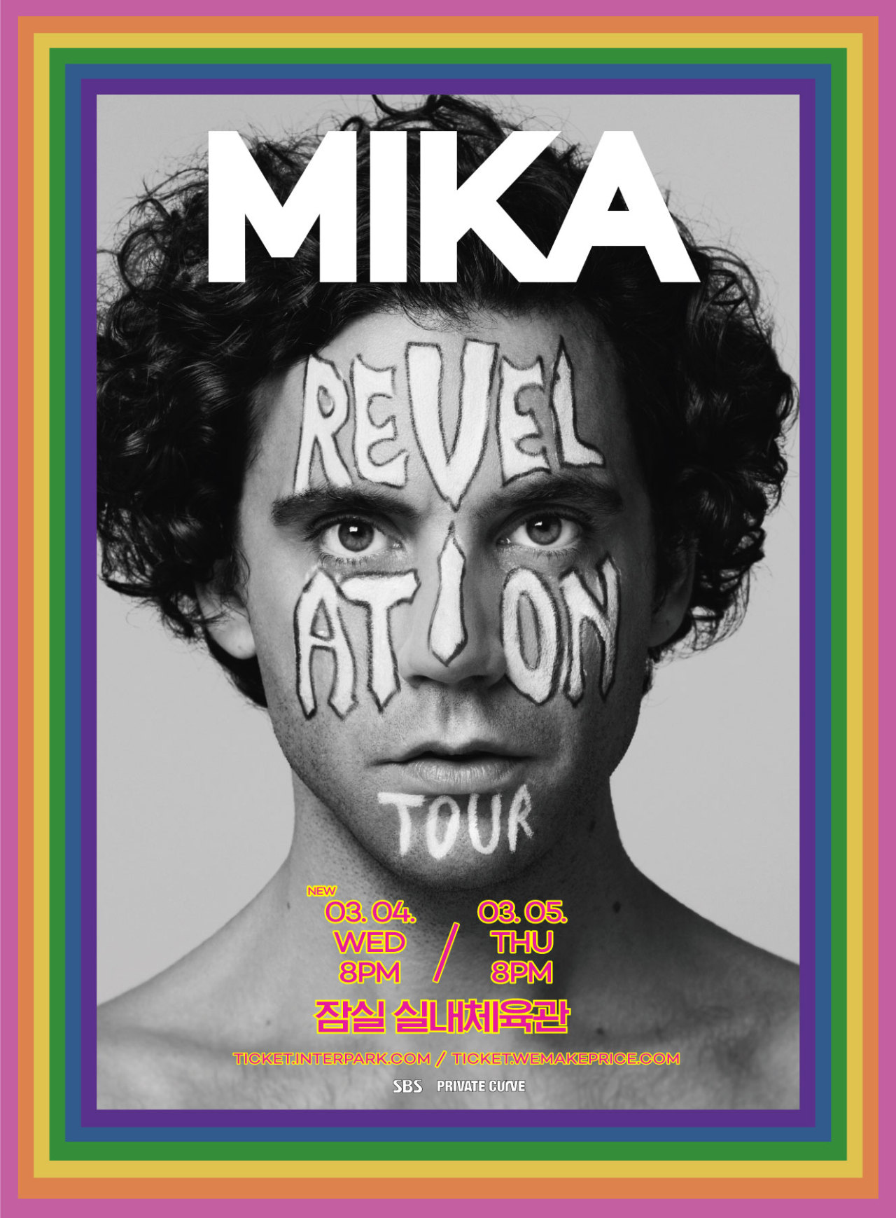 """Mika Revelation Tour"" poster (Private Curve)"
