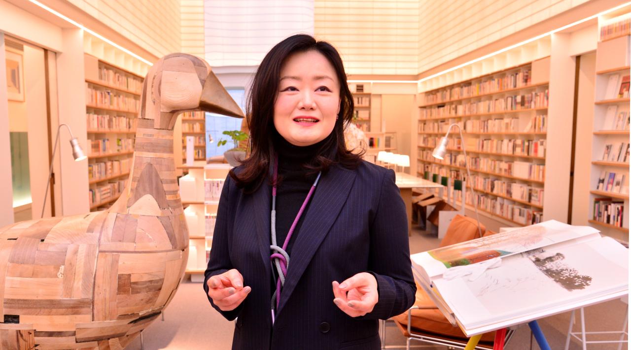 Membership library Sojeonseolim director Hwangbo Yumi (Park Hyun-koo/The Korea Herald)