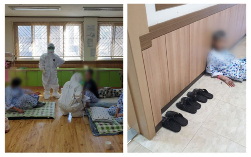 National Medical Center staff inspect the mental ward of the hospital in Cheongo, North Gyeongsang Province. (NMC)