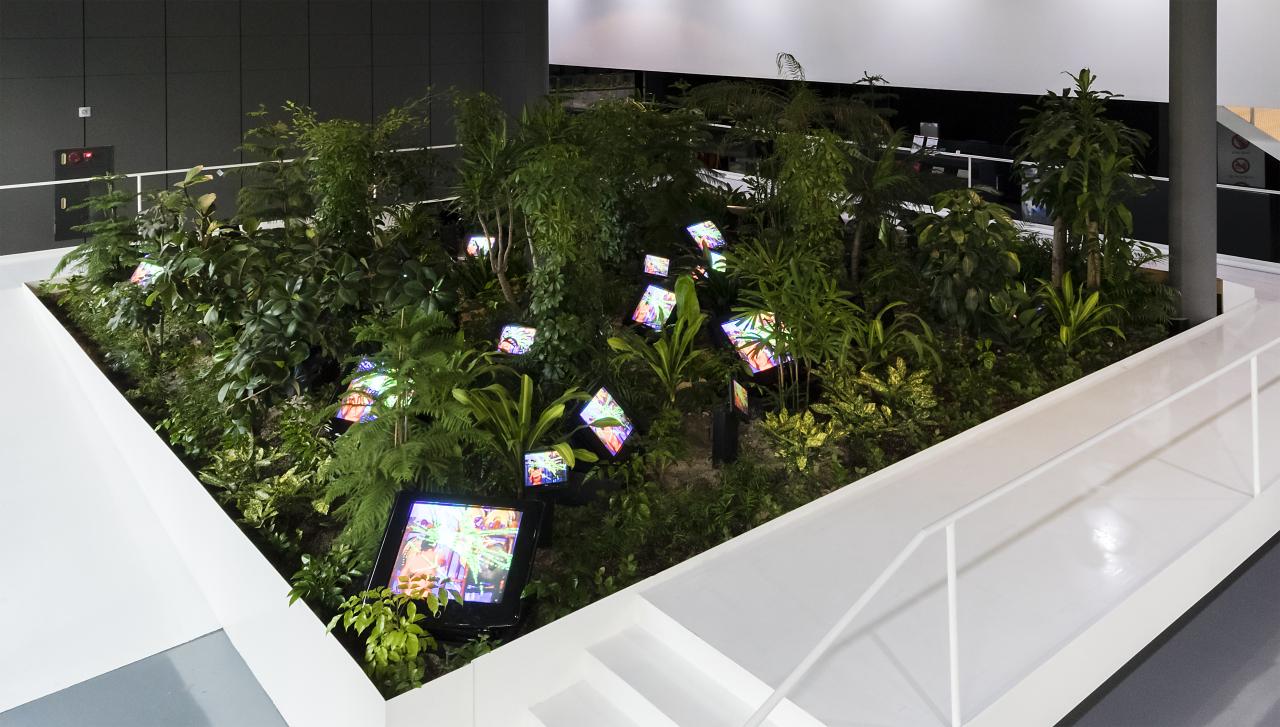 "Paik Nam-june's ""TV Garden"" (1974/2002) at Nam June Paik Art Center (Nam June Paik Art Center)"