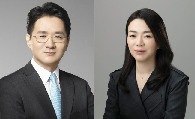 Cho Won-tae (left) and Cho Hyun-ah