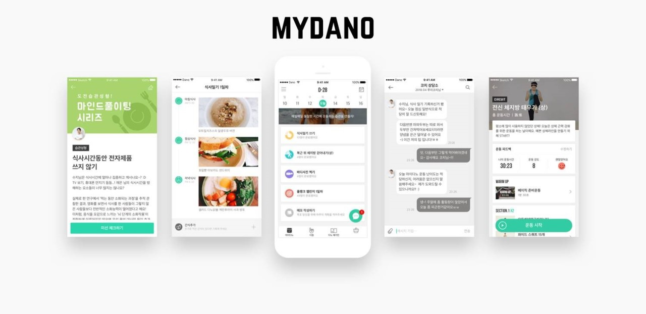 Korean startup Dano's mobile fitness app My Dano (Dano)