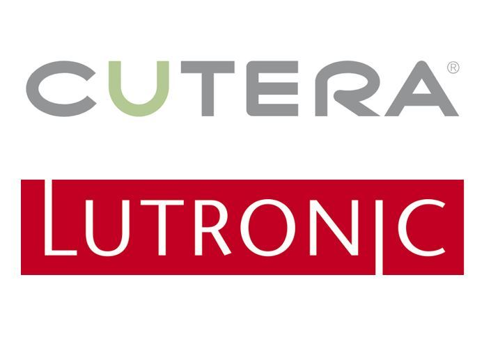 Logos of Cutera and Lutronic