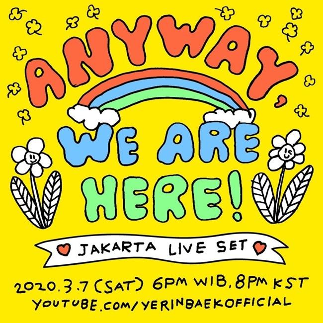 Baek Ye-rin announcing livestreaming performance on Thursday (Blue Vinyl)