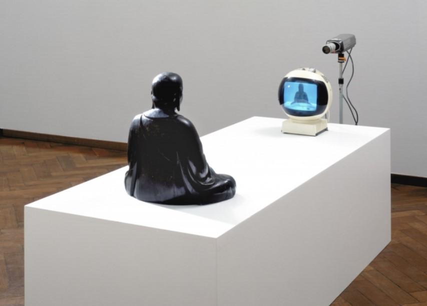 "Paik Nam-june, ""TV-Buddha"" (1974) (Stedelijk Museum Amsterdam collection)"