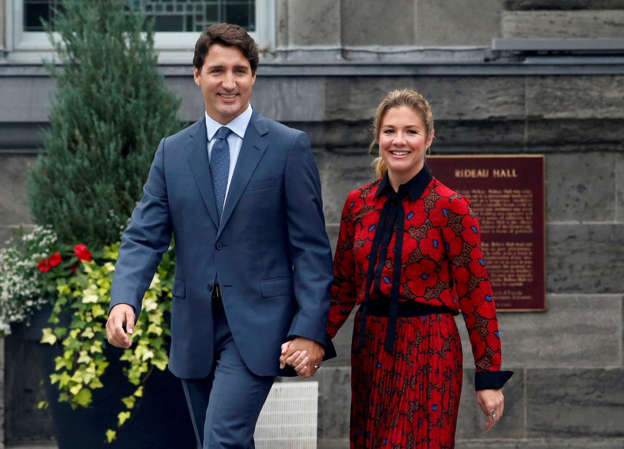 Canadian Prime Minister Justin Trudeau and his wife Sophie Grégoire Trudeau (EPA-Yonhap)