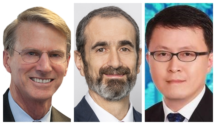 From left: Moody's Analytics chief APAC economist Steve Cochrane, S&P Global Ratings chief APAC economist Shaun Roache and CGS-CIMB global head of Technology Research Peter Chan