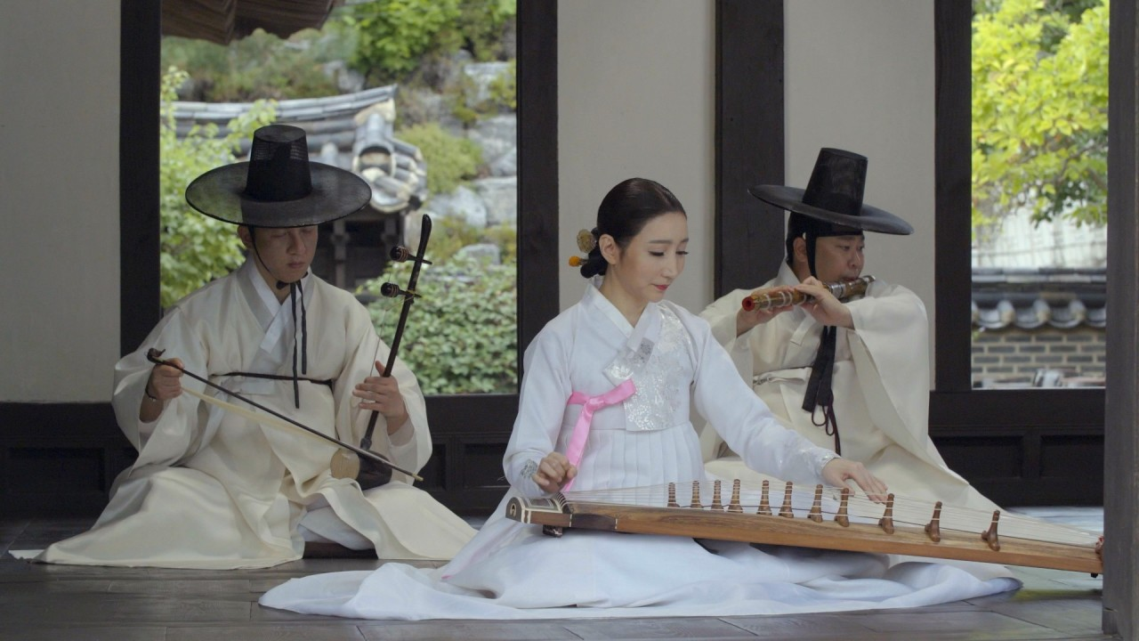 "A folk music group under the National Gugak Center presents ""namdo sinawi,"" a form of folk music practiced in the southern regions of Korea. (National Gugak Center)"