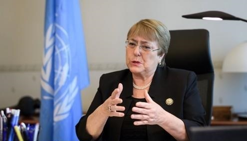 Michelle Bachelet, UN high commissioner for human rights, says North Korea needs UN sanctions relief to contain the coronavirus pandemic. (Yonhap)