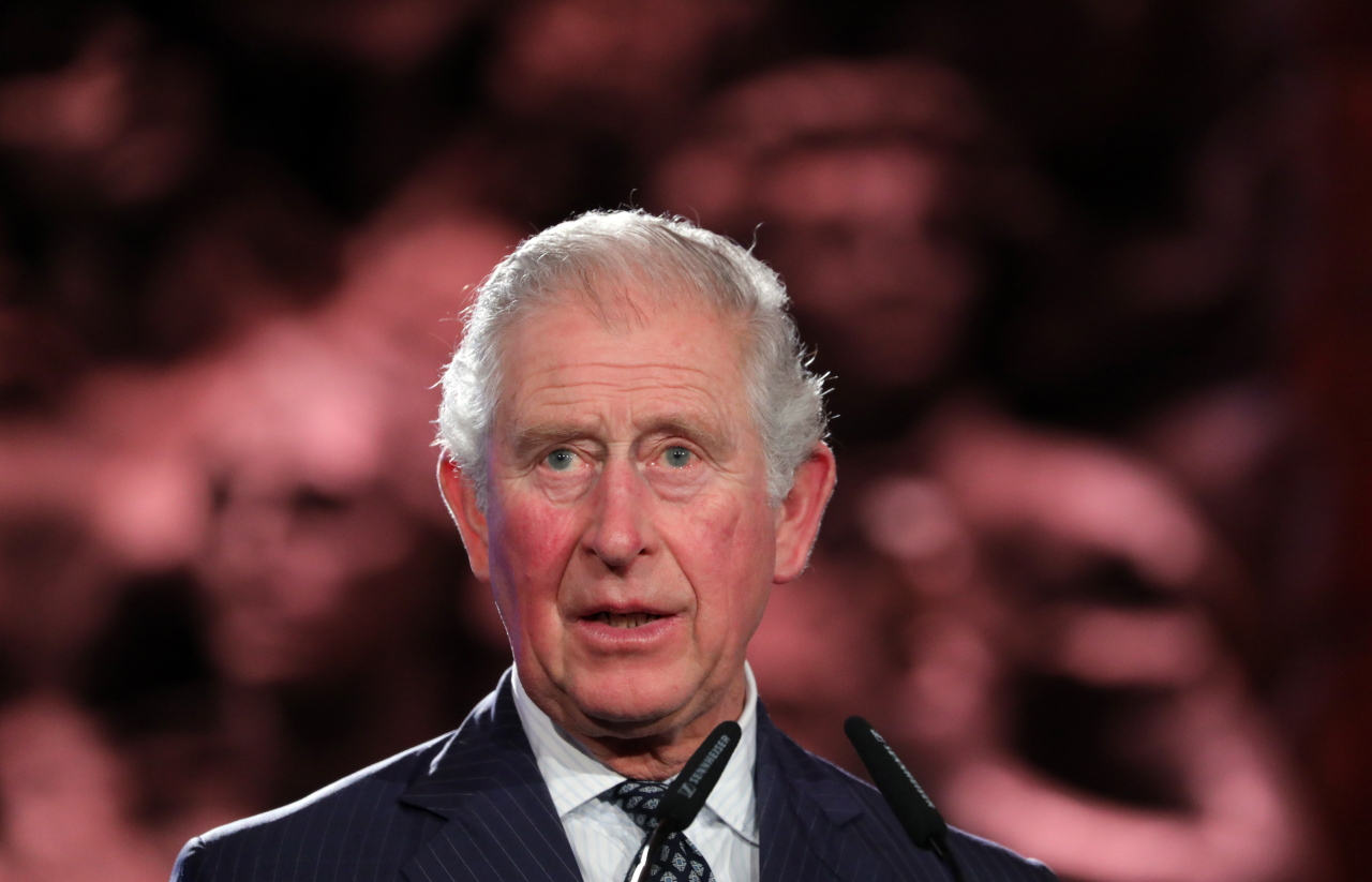 Britain`s Prince Charles speaks during the Fifth World Holocaust Forum at the Yad Vashem Holocaust memorial museum in Jerusalem, Israel, Jan. 23 2020. (EPA-Yonhap)