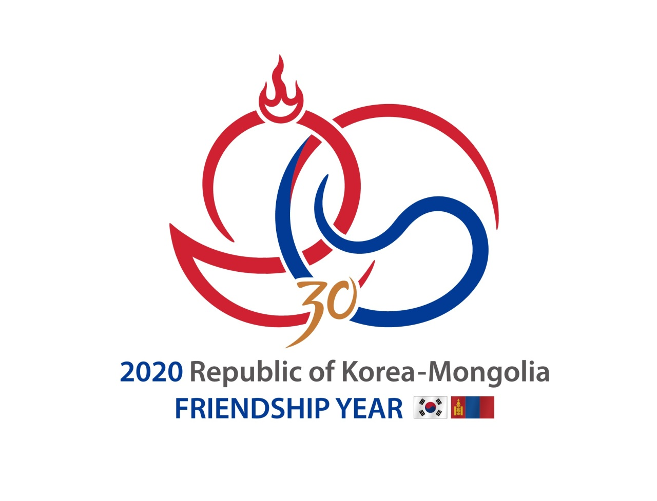 Emblem created by the governments of South Korea and Mongolia to mark the 30th anniversary of the establishment of diplomatic relations (Ministry of Foreign Affairs)