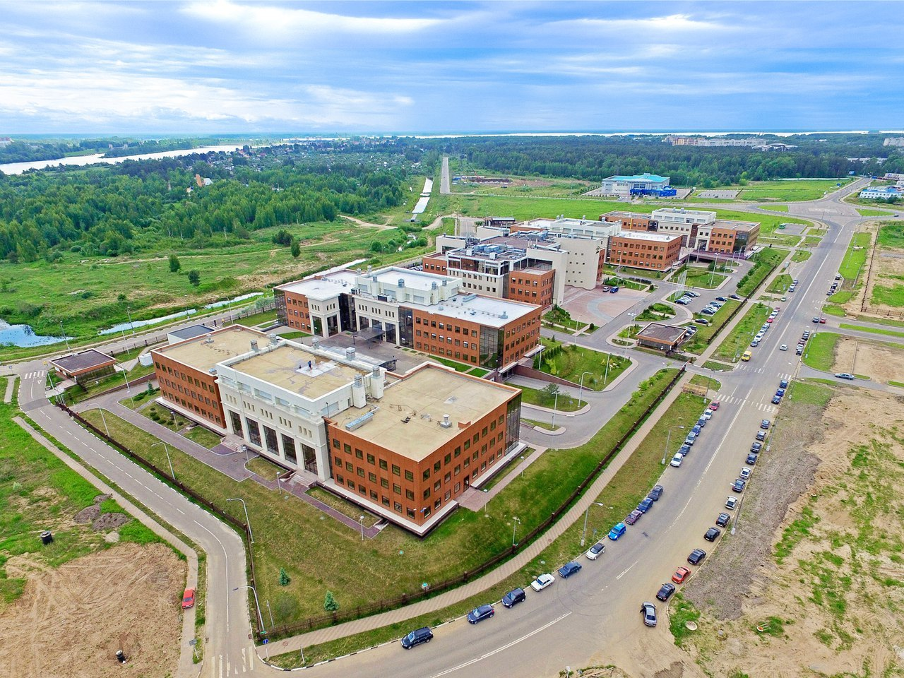 An aerial view of Dubna Special Economic Zone in Russia (Courtesy of Dubna Special Economic Zone)