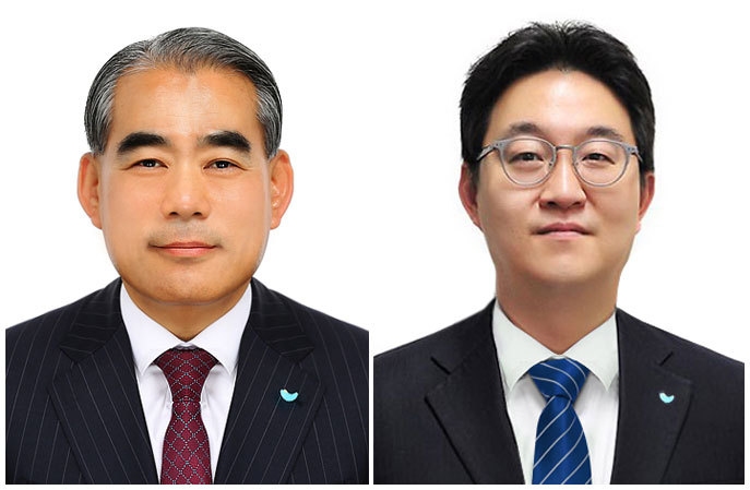New SPC Samlip CEO Hwang Jong-hyeon (left) and SPC GFS CEO Ahn Ji-yong (SPC)