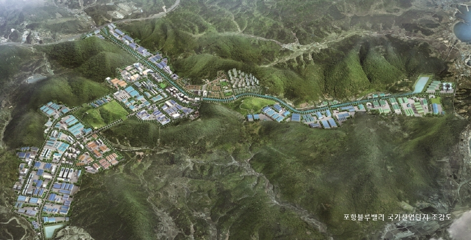 Architectural drawing of Pohang Blue Valley National Industrial Complex (Pohang city government)