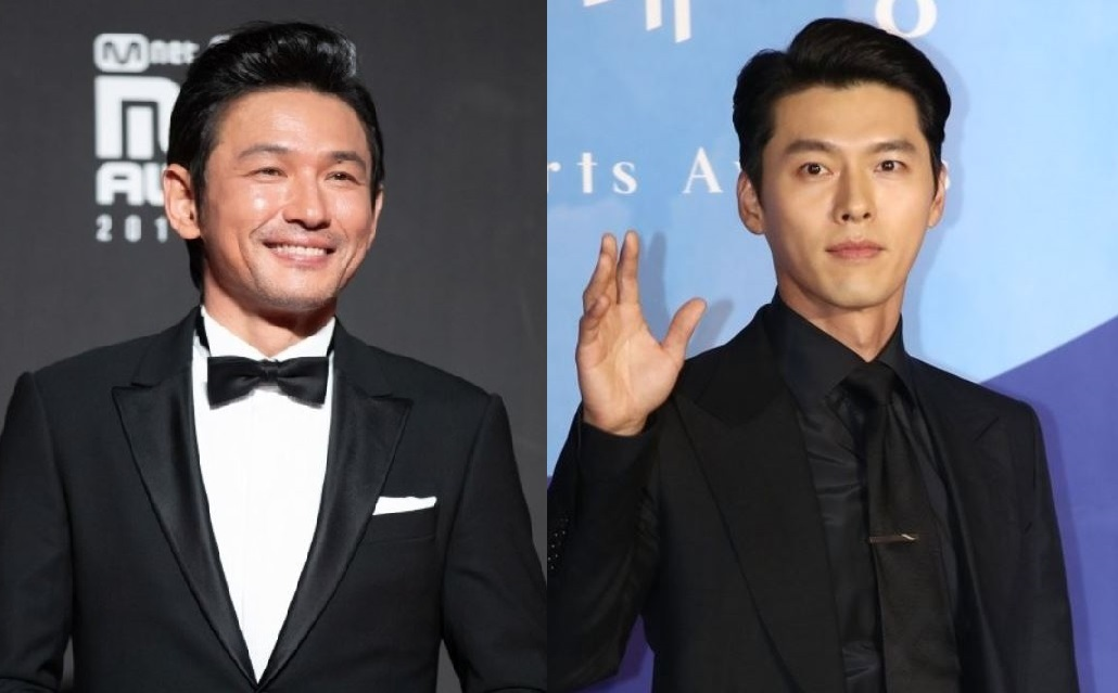 Actors Hwang Jung-min (left) and Hyun Bin are expected to star in an upcoming film