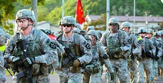 United States Forces Korea in combat training (Yonhap)