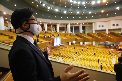 Yoido Full Gospel Church in Yeouido, Seoul, held an online Sunday Service on March 15 due to the coronavirus spread.(Yonhap)