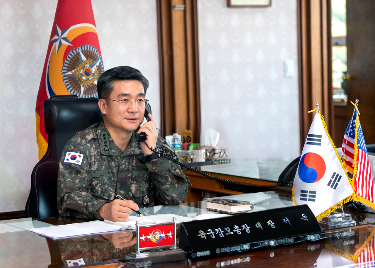 South Korea's Army Chief of Staff Suh Wook (Ministry of National Defense)