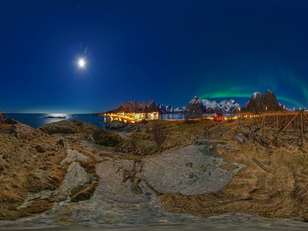 Northern lights in Norway seen through VR (KT)