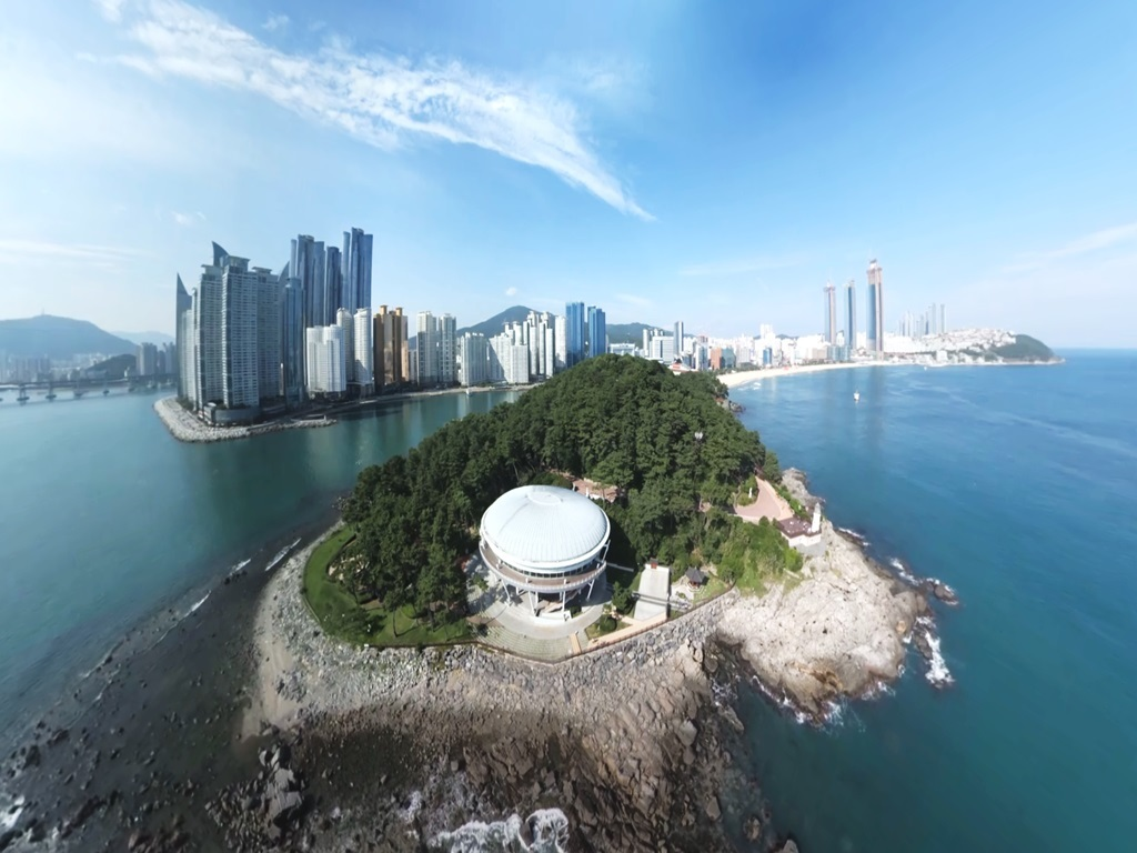 Haeundae in Busan seen through VR (KT)