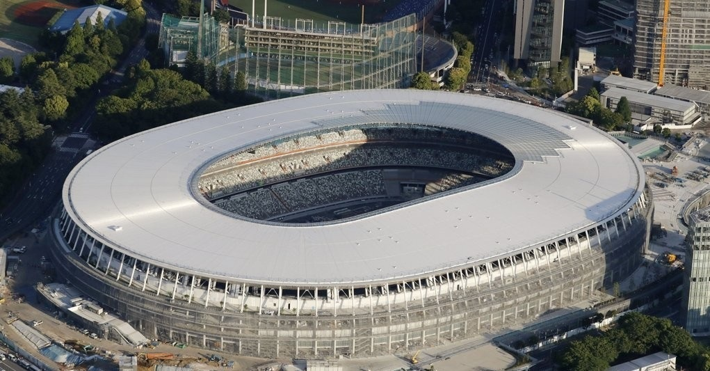 The new main Olympic Stadium in Japan (Yonhap)