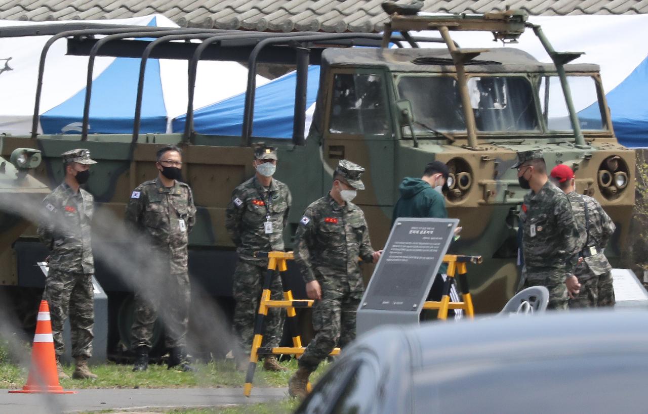 Tottenham's Heung-min begins military training in S/Korea