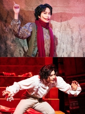 "Kyuhyun of Super Junior (top) and Suho of Exo in ""The Man Who Laughs"" (EMK)"