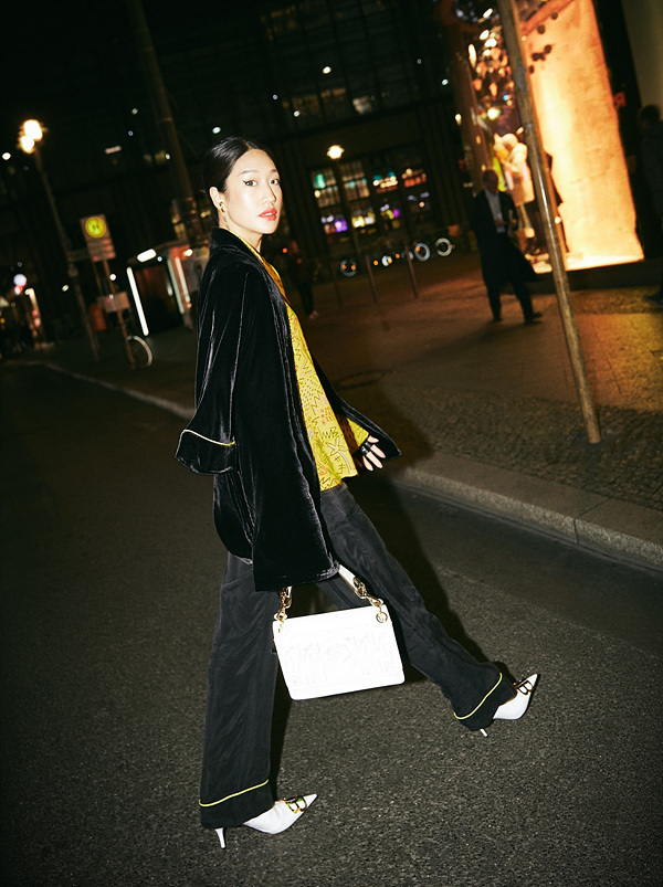 "DJ Peggy Gou collaborated with online select shop brand Yoox in launching an exclusive capsule collection ""Ready-to-go"" featuring loungewear styles. (Yoox)"