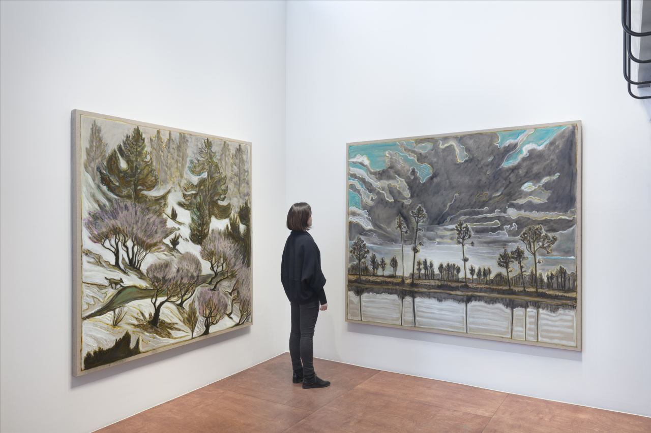 """An installation view of """"Wolves, Sunsets and the Self,"""" at Lehman Maupin in Seoul. (Lehman Maupin)"""