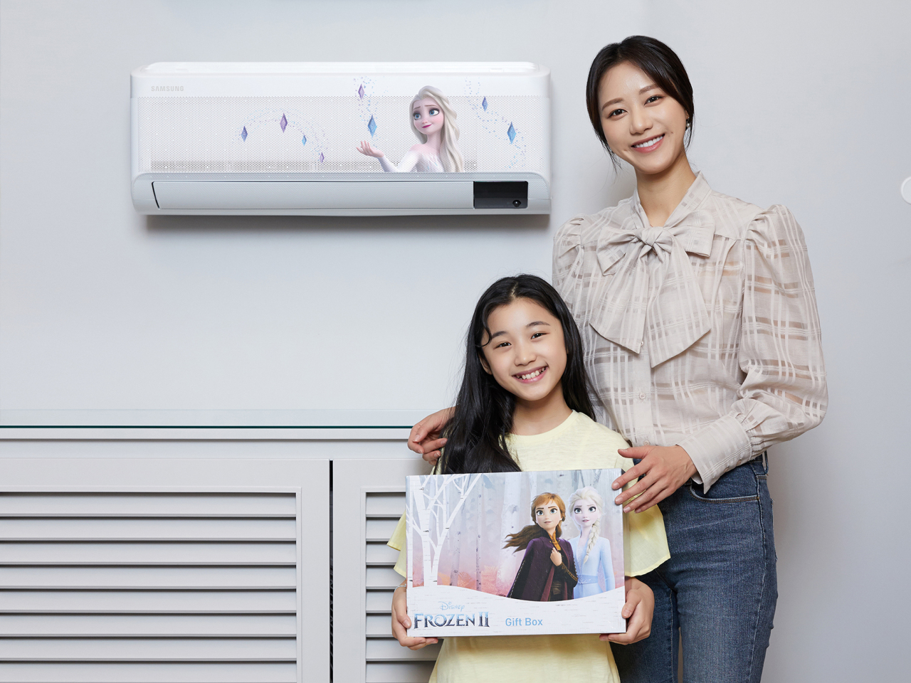 "The ""Frozen 2"" Samsung Electronics wind-free air conditioner is displayed. (Samsung Electronics)"