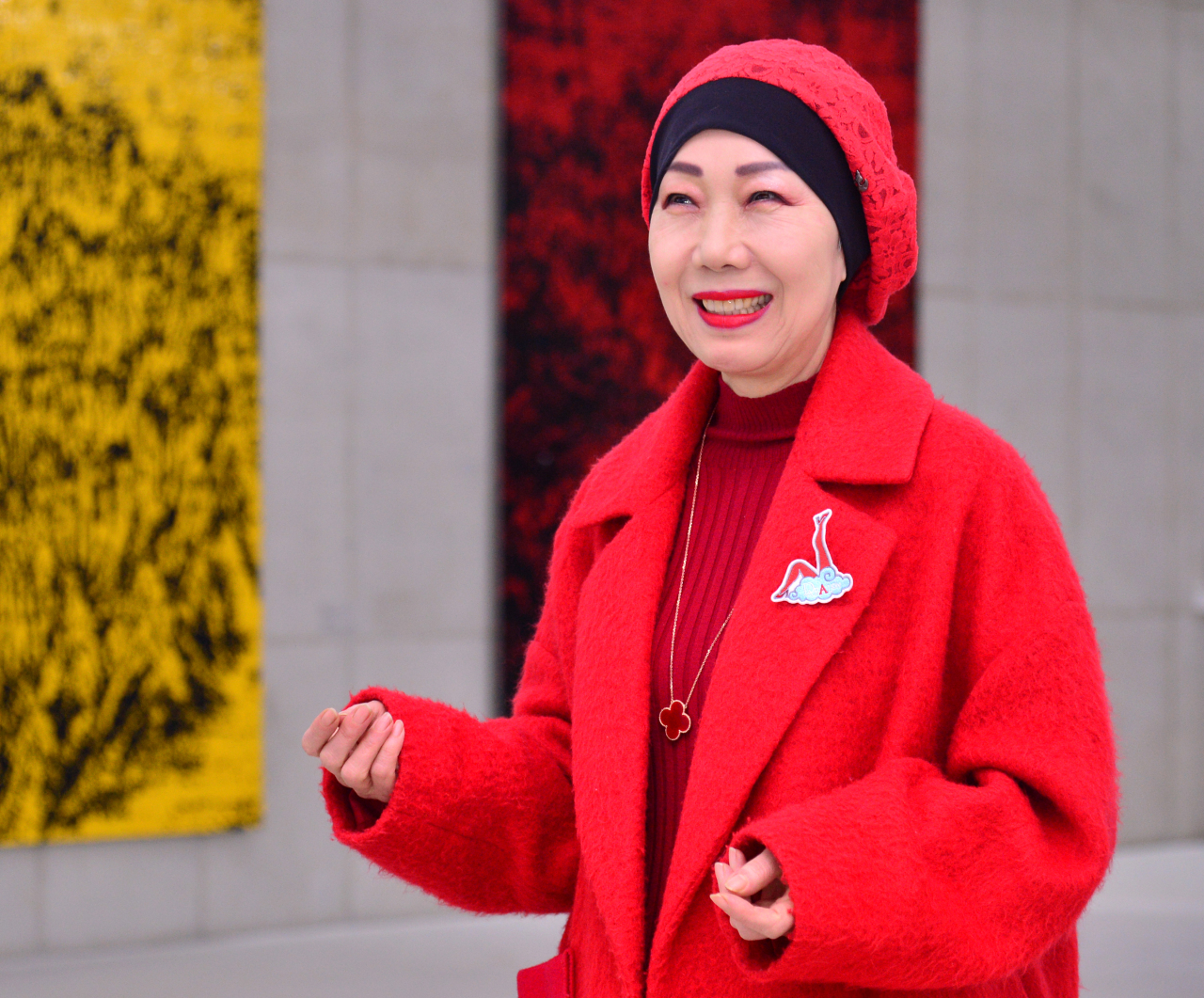 Savina Lee, director of Savina Museum of Contemporary Art, poses at the museum on Wednesday. (Park Hyun-koo/The Korea Herald)