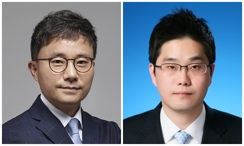 Samsung Securities head of North Korea research team You Seung-min (left) and NH Investment & Securities North Korea desk strategist Kim Byung-yeon