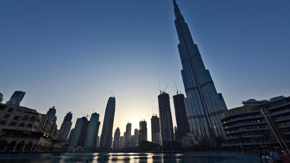 Burj Khalifa, the world's tallest building, in the city centre of the Gulf emirate of Dubai. (AFP-Yonhap)
