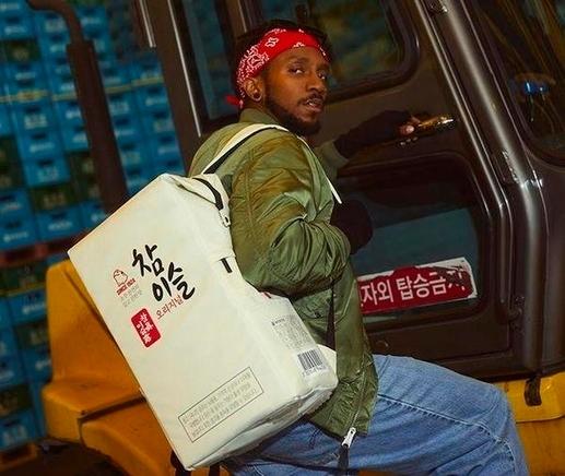 Chamisul backpack (HiteJinro)